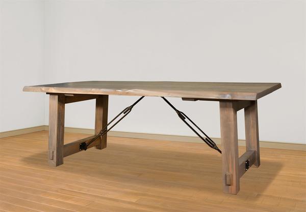 Ruff Sawn Live Edge Benchmark Dining Table