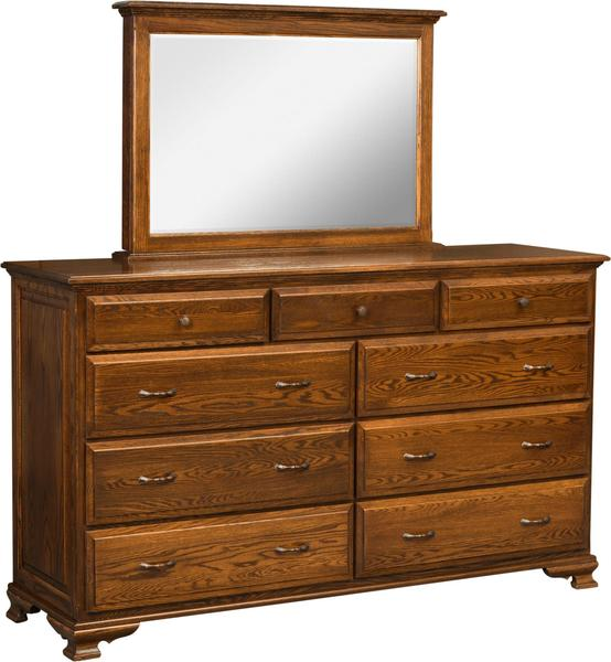 Amish Santa Clara 9-Drawer Dresser with Optional Mirror