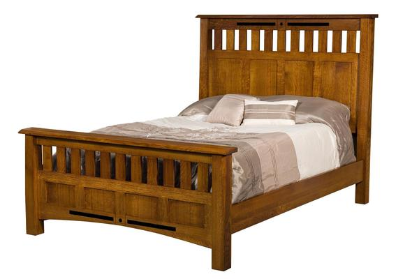 Amish Bel Aire Slat Panel Bed