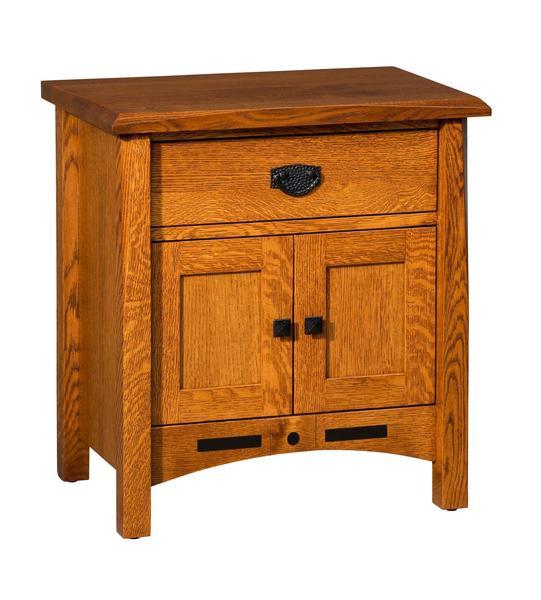 Amish Nolan 1-Drawer, 2-Door Nightstand