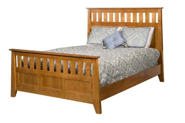 Amish Berwick Slat Panel Bed