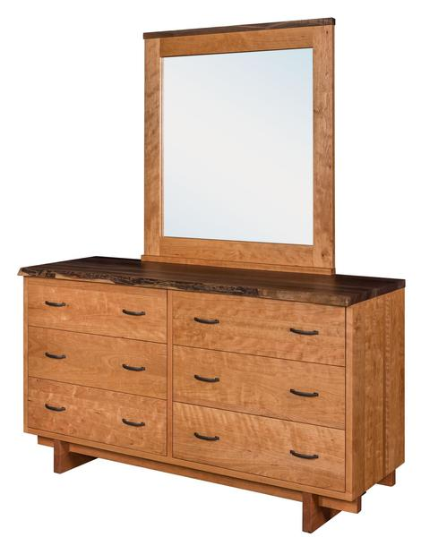 Amish Green Bay 6-Drawer Dresser with Optional Mirror