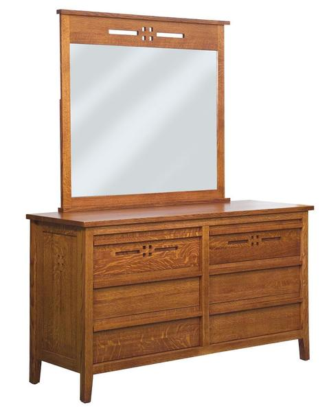 Amish Whitehaven 6-Drawer Dresser with Optional Mirror
