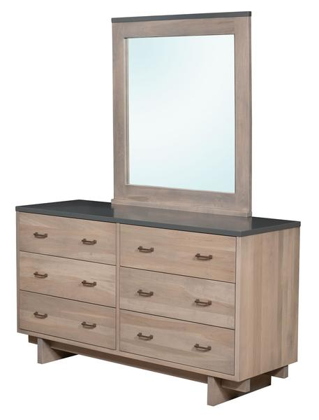 Amish Gilbert 6-Drawer Dresser with Optional Mirror