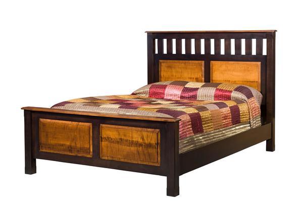 Amish Martoga Slat Panel Bed