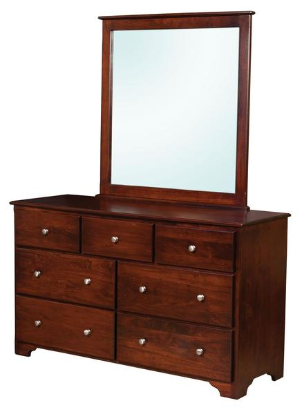 Amish Talcott 7-Drawer Dresser with Optional Mirror