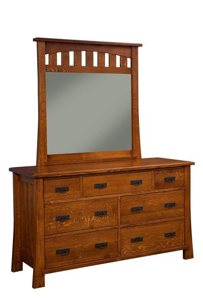 Amish Dupont 7-Drawer Dresser with Optional Mirror