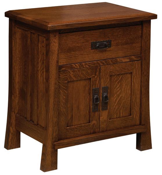 Amish Dupont 1-Drawer 2-Door Nightstand