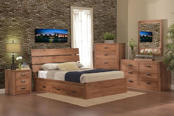 Amish Galaxy Storage Five Piece Bedroom Set