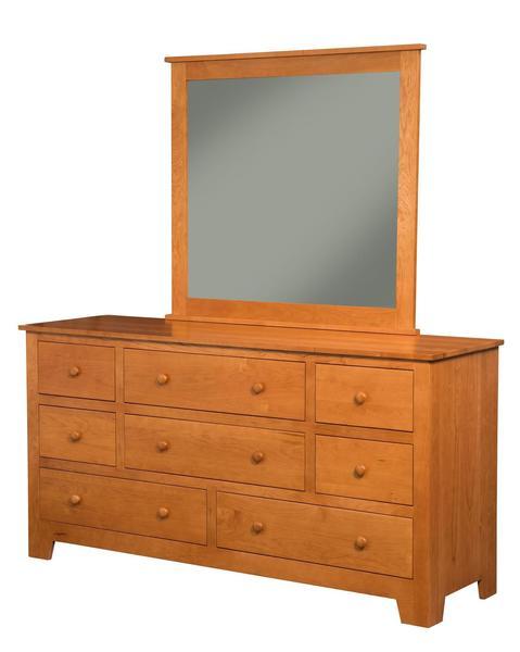 Amish Rockville 8-Drawer Dresser with Optional Mirror