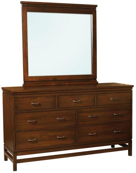 Amish Lakewood 7-Drawer Dresser with Optional Mirror