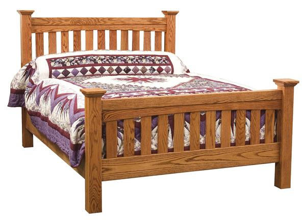 Amish Ellis Slat Mission Bed