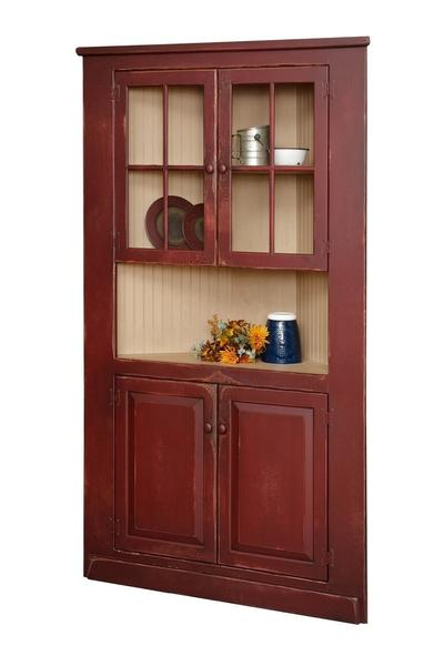 Corner Cupboard with Top Glass