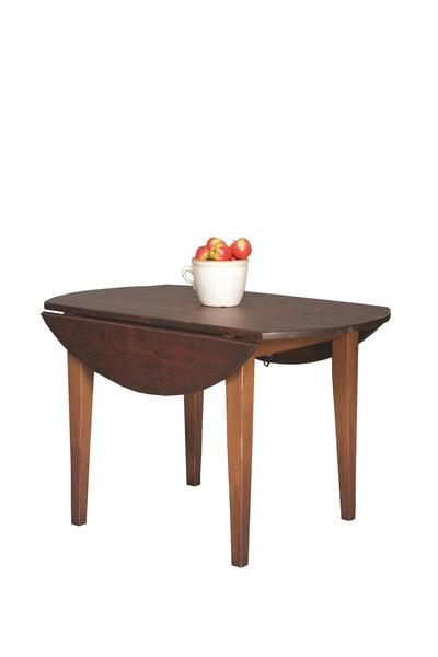 Honey Brook 4' Round Harvest Table with 2 Drops