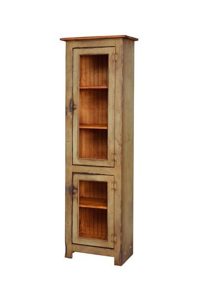 Pine Wood Curio Cabinet