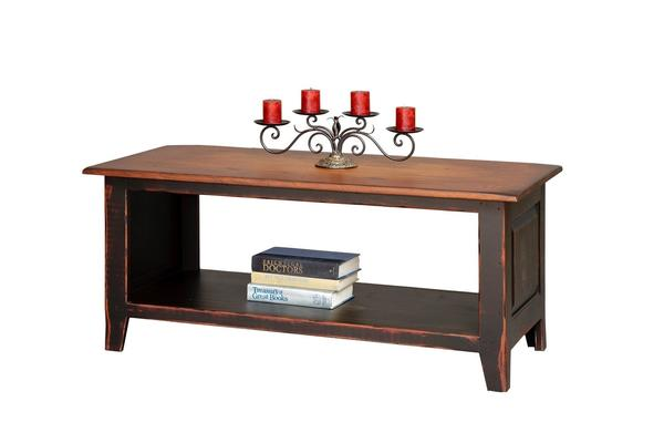 Honey Brook Coffee Table Chest with Shelf
