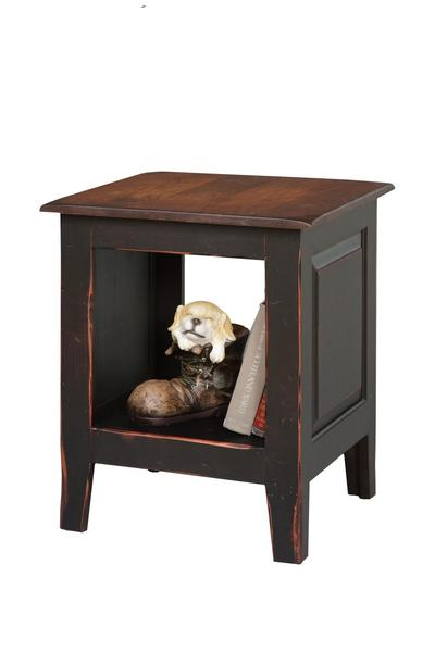 Honey Brook End Table Chest with Shelf