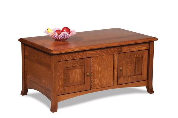 Amish Carlisle Enclosed Coffee Table with Doors