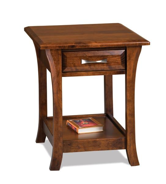 Amish Ensenada Open End Table with Drawer