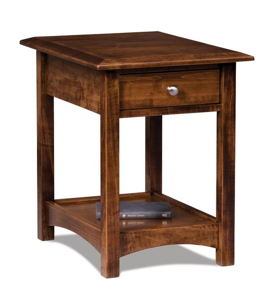 Amish Finland Open End Table with Drawer