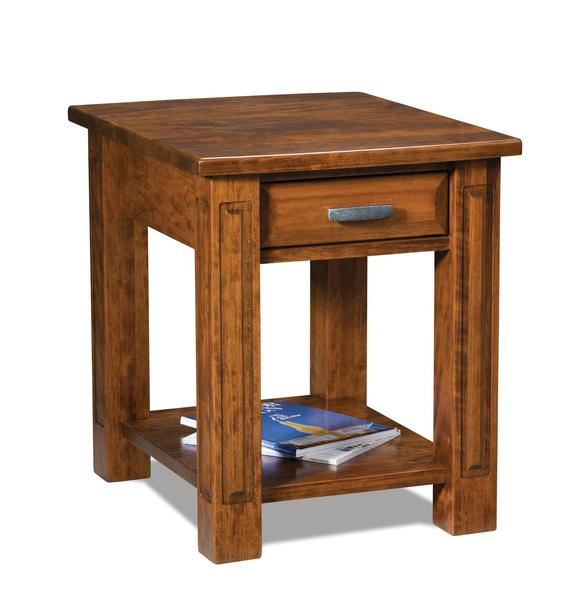 Amish Lexington Open End Table with Drawer