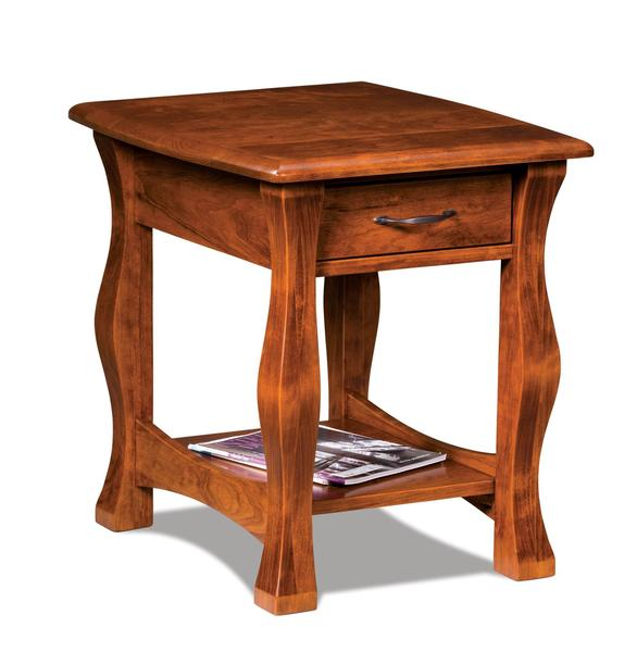 Amish Reno Open End Table with Drawer