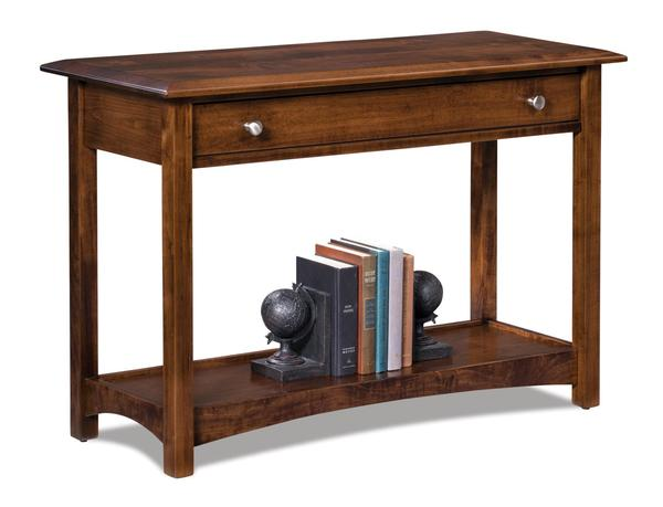 Amish Finland Open Sofa Table with Drawer