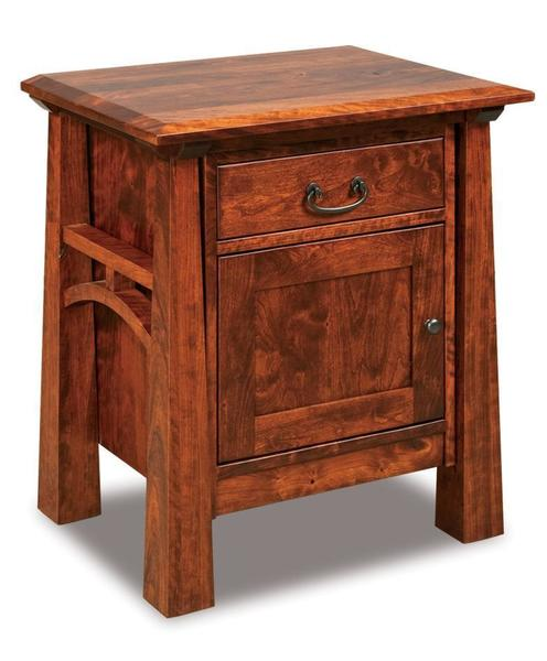 Amish Artesa Night Stand with One Drawer and One Door