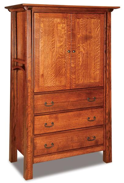 Amish Artesa Armoire with Three Drawers