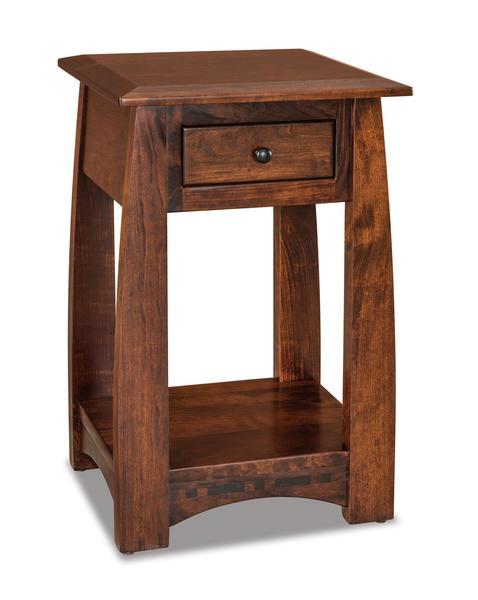Amish Boulder Creek Condo Size One Drawer Open Nightstand