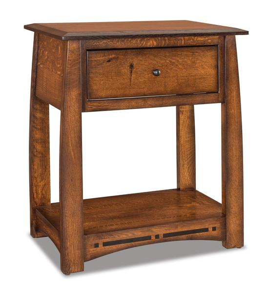 Amish Boulder Creek King Size One Drawer Open Nightstand