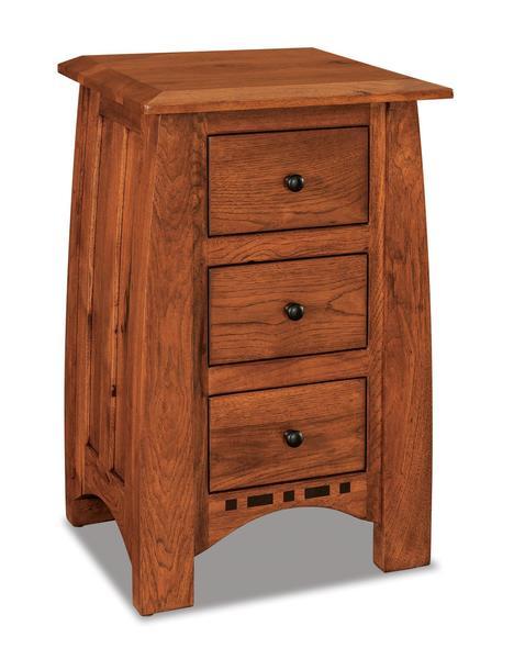Amish Boulder Creek Condo Size Three Drawer Nightstand