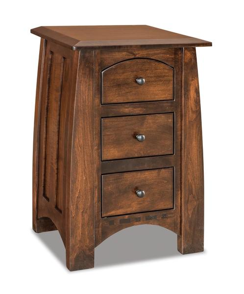 Amish Boulder Creek Condo Size Three Drawer Nightstand
