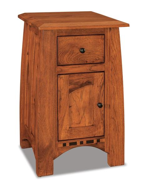 Amish Boulder Creek Condo Size Nightstand with One Drawer and One Door