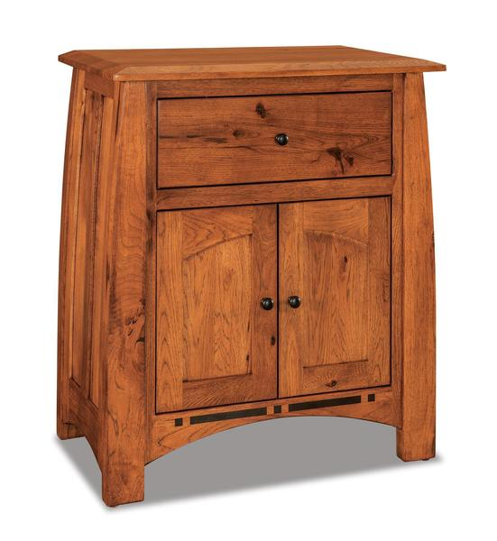 Amish Boulder Creek king Size Nightstand with One Drawer and Two Doors