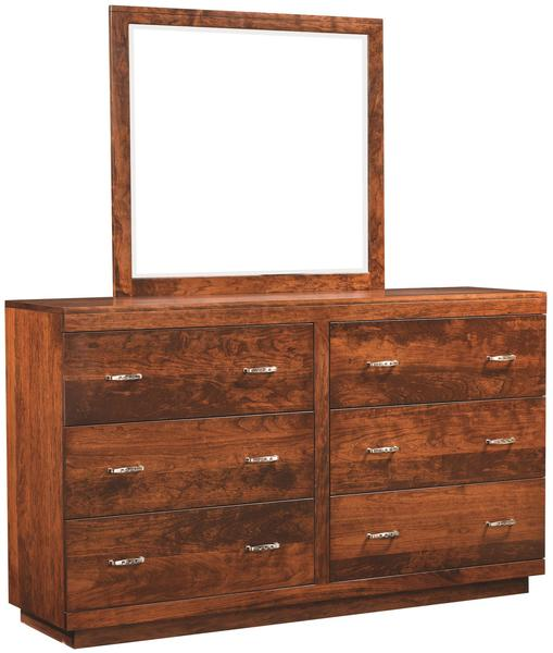 Amish Berkeley 6-Drawer Dresser with Optional Mirror