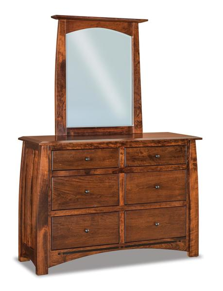 Amish Boulder Creek Six Drawer Dresser with Optional Mirror