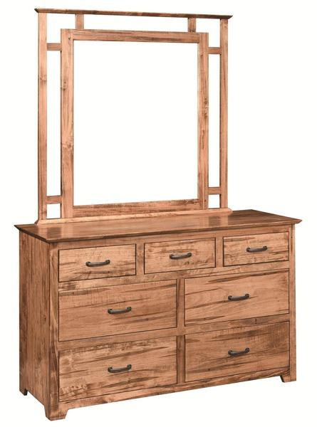 Amish Youth Contemporary 7-Drawer Dresser with Optional Mirror