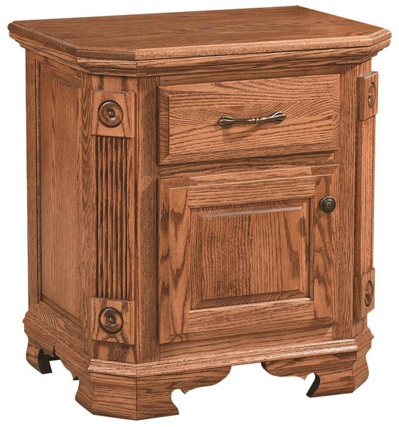 Amish Southern Deluxe 1-Drawer Nightstand