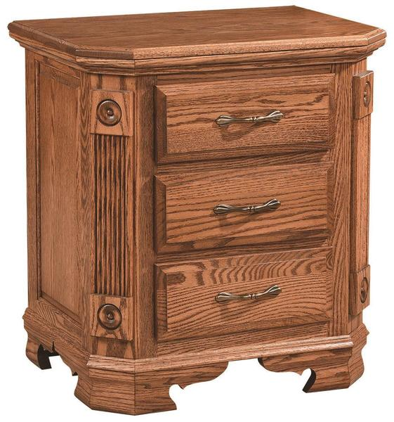Amish Southern Deluxe Three-Drawer Nightstand