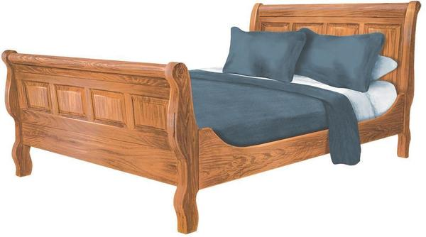Amish Scarbough Sleigh Bed