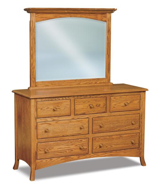 "Amish Carlisle 59"" Seven Drawer Dresser with Optional Mirror"