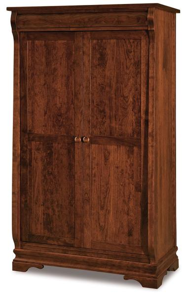 Amish Chippewa Sleigh Wardrobe Armoire