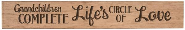 American Made Primitive Plank Sign - Grandchildren Complete Life's Circle of Love