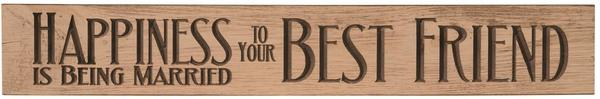 American Made Primitive Plank Sign - Happiness is Being Married to Your Best Friend