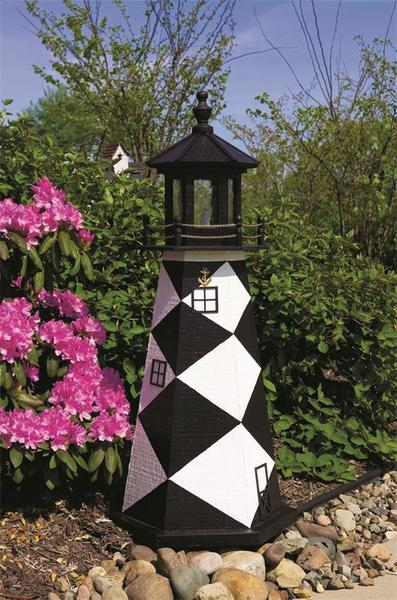 Amish-Made Cape Lookout Wooden Garden Lighthouse