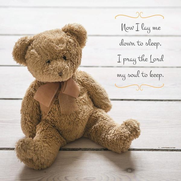 American Made Teddy Bear Scripture Plaque