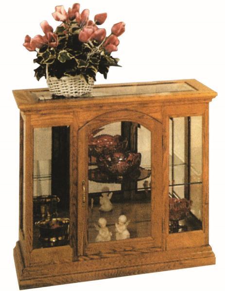 Amish Small One Door Curio Cabinet