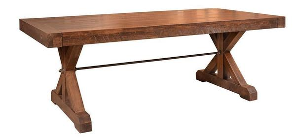 Ruff Sawn Chesapeake Dining Table with Extensions