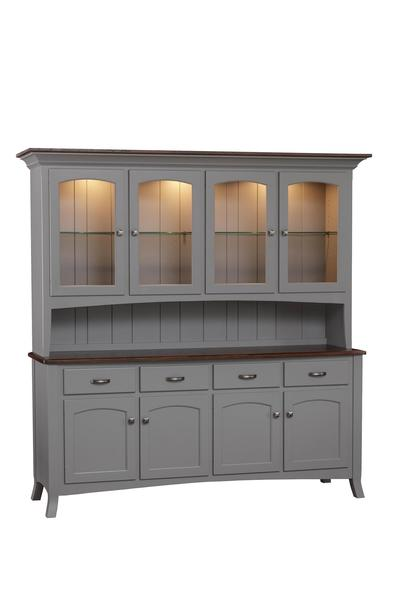 Amish Concord Four Door China Hutch